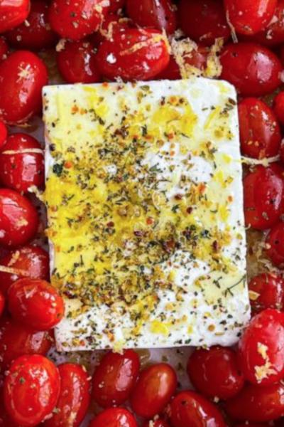 TikTok's Baked Feta & Cherry Tomato Pasta