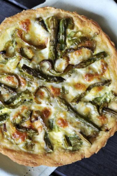 Asparagus Quiche & No-Bake Reese's Peanut Butter Pie