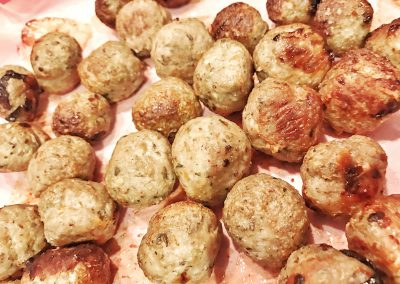 Lamb and Feta Meatballs w/ Tzatziki