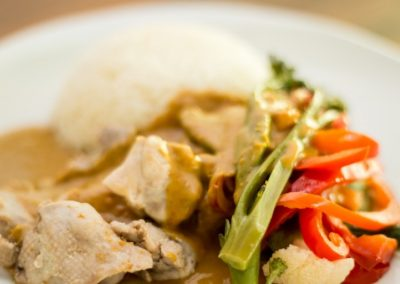 Satay Chicken and Vegetables
