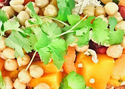 Shredded Chicken & Pumpkin Salad