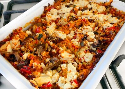 Vegetable Bake with Thyme Infused Oil