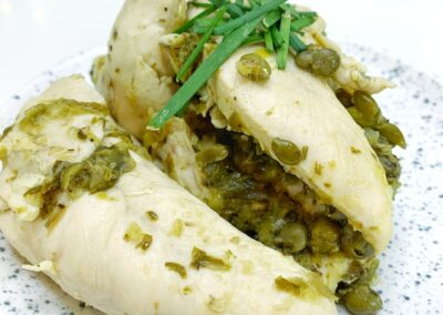 Lemon Chicken with Spring Onions
