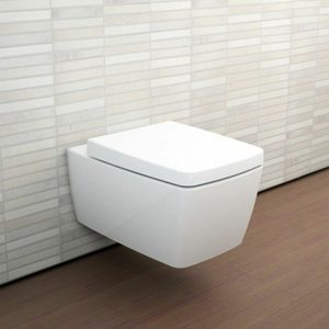 TOILET SUITE CISTERN MODERN WALL HUNG DESIGN COMPLETE SET WATERMARK