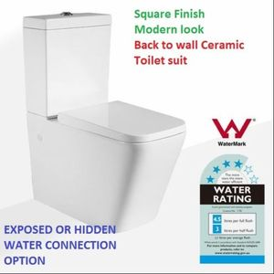 TOILET SUITE BACK TO WALL S/P TRAP CERAMIC SOFT CLOSE WATERMARK