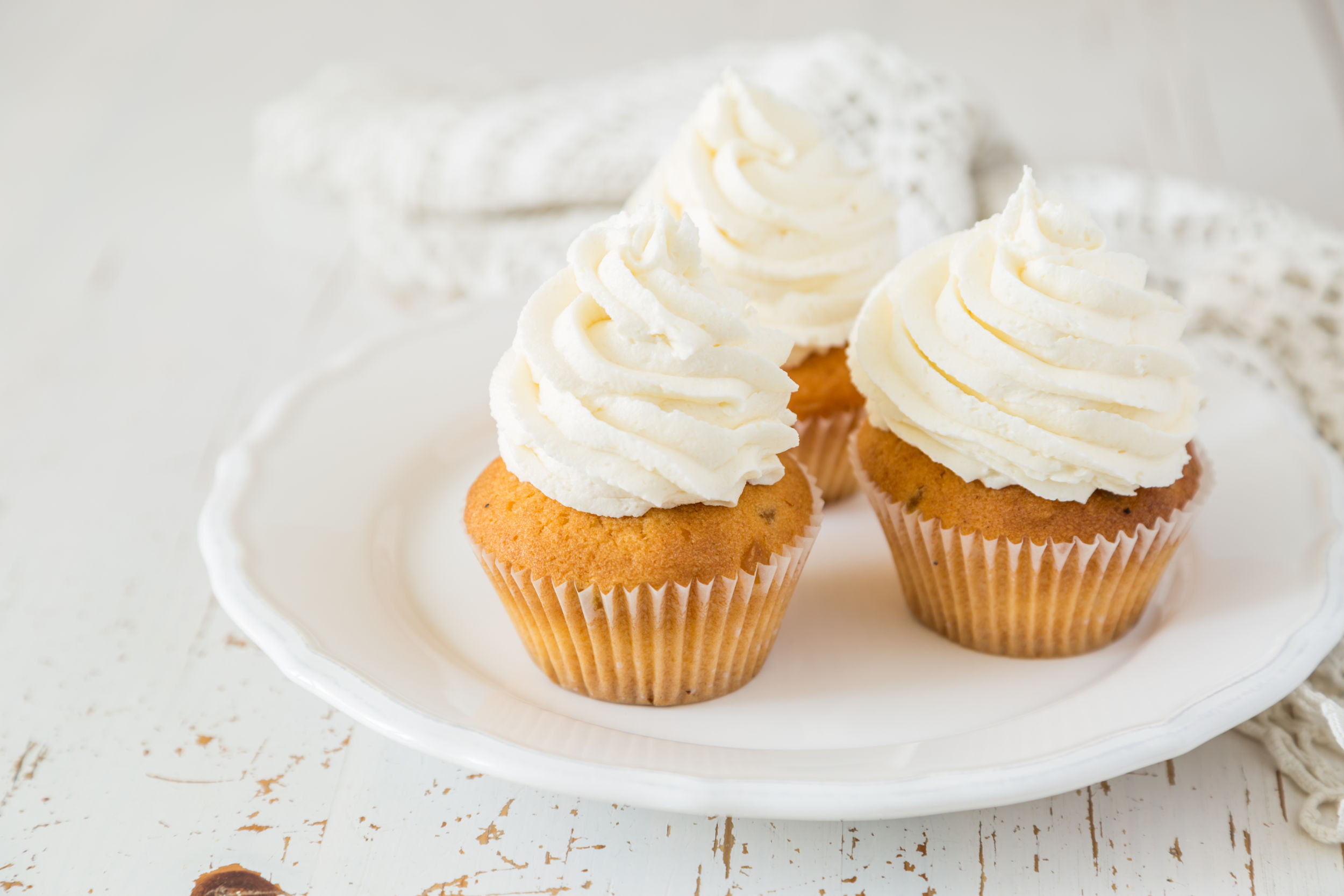 Lavender Cupcakes with Honey Cream Cheese Frosting