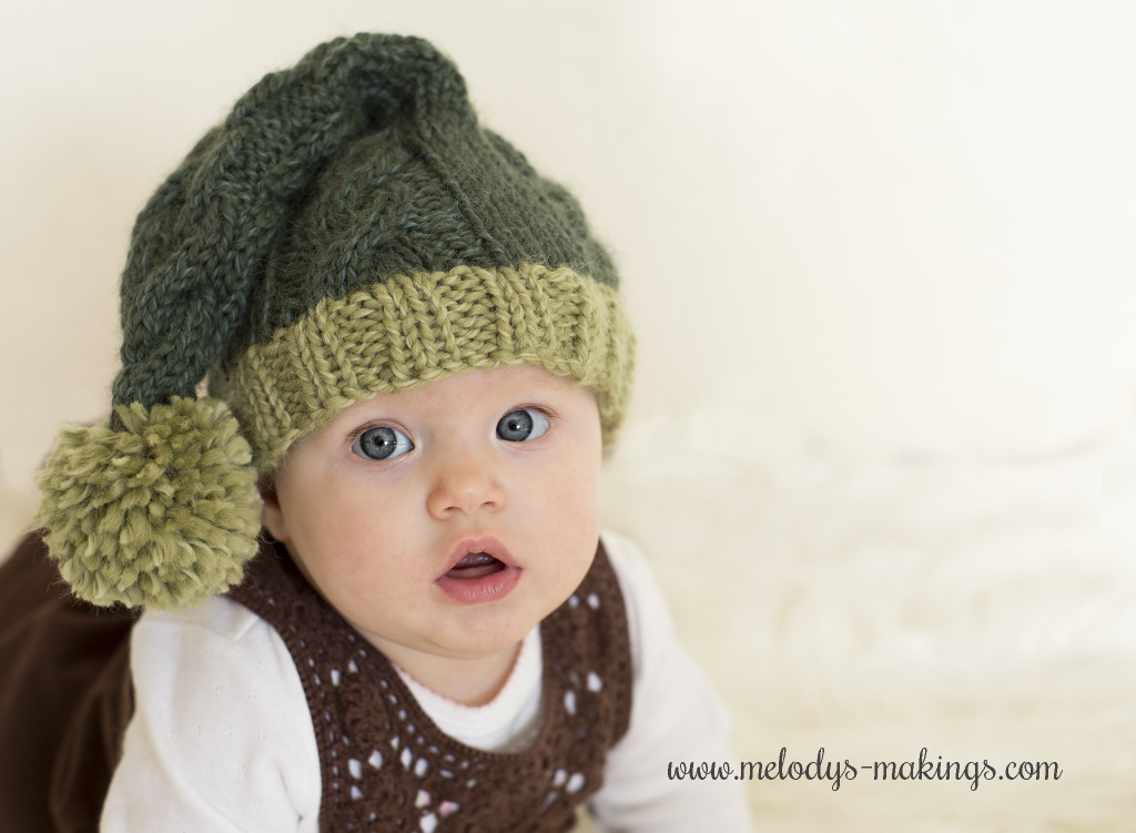 Knit Cabled Elf Hat