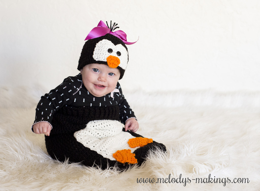 Baby Penguin Crochet Outfit