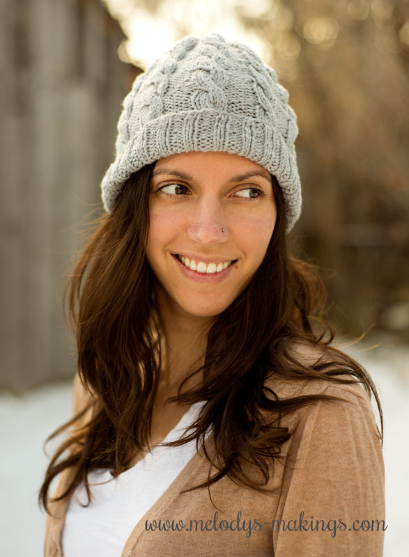 adult cable knit hat pattern