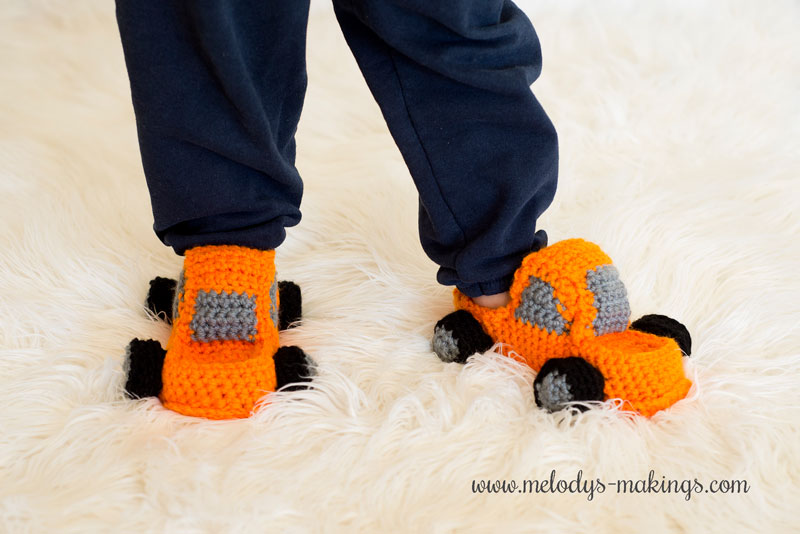 crochet truck slippers