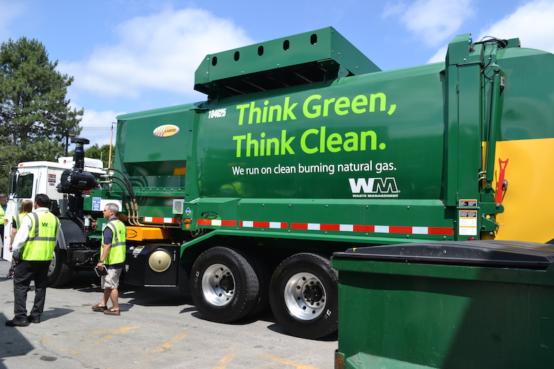 Waste Management CNG refuse truck
