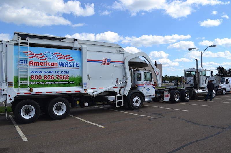 All American Waste CNG refuse truck