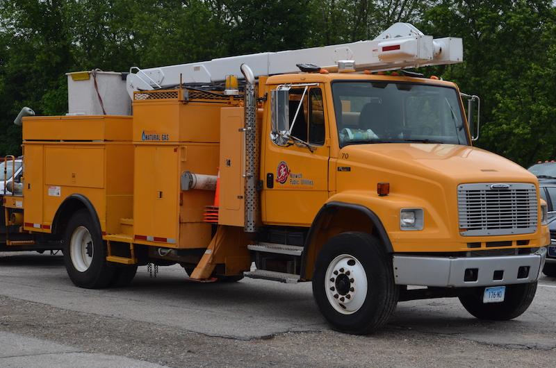 Norwich Public Utilities CNG bucket truck