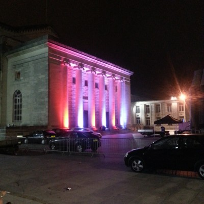 Southampton Guildhall Uplighting