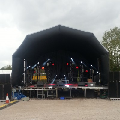 9m x 8m x 5m Inflatable Stage