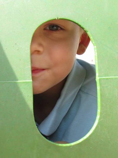 peeking-through