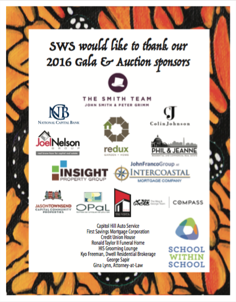 thank you SWS auction sponsors