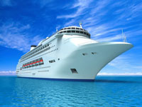 Cruise ship to which our car service transports customers