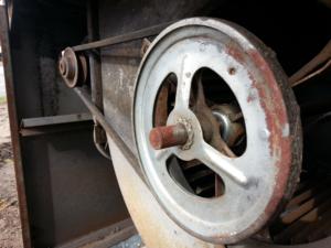 Steampunk Old Bryant Furnace Belt Drive