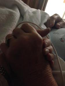 Moms hand