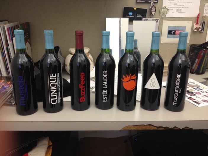 Etched Wine Bottles