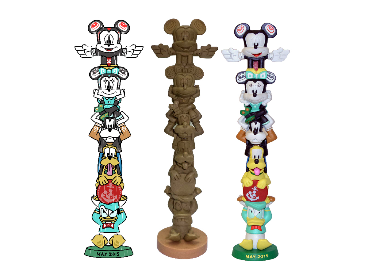 Disney Cruise Ship Character Totem Pole