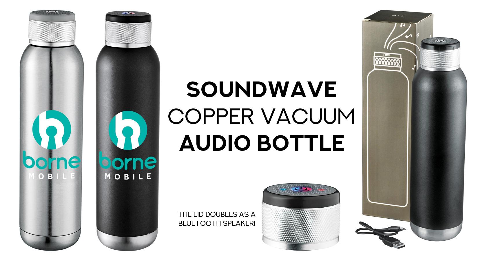 The Soundwave Copper Vacuum Audio Bottle