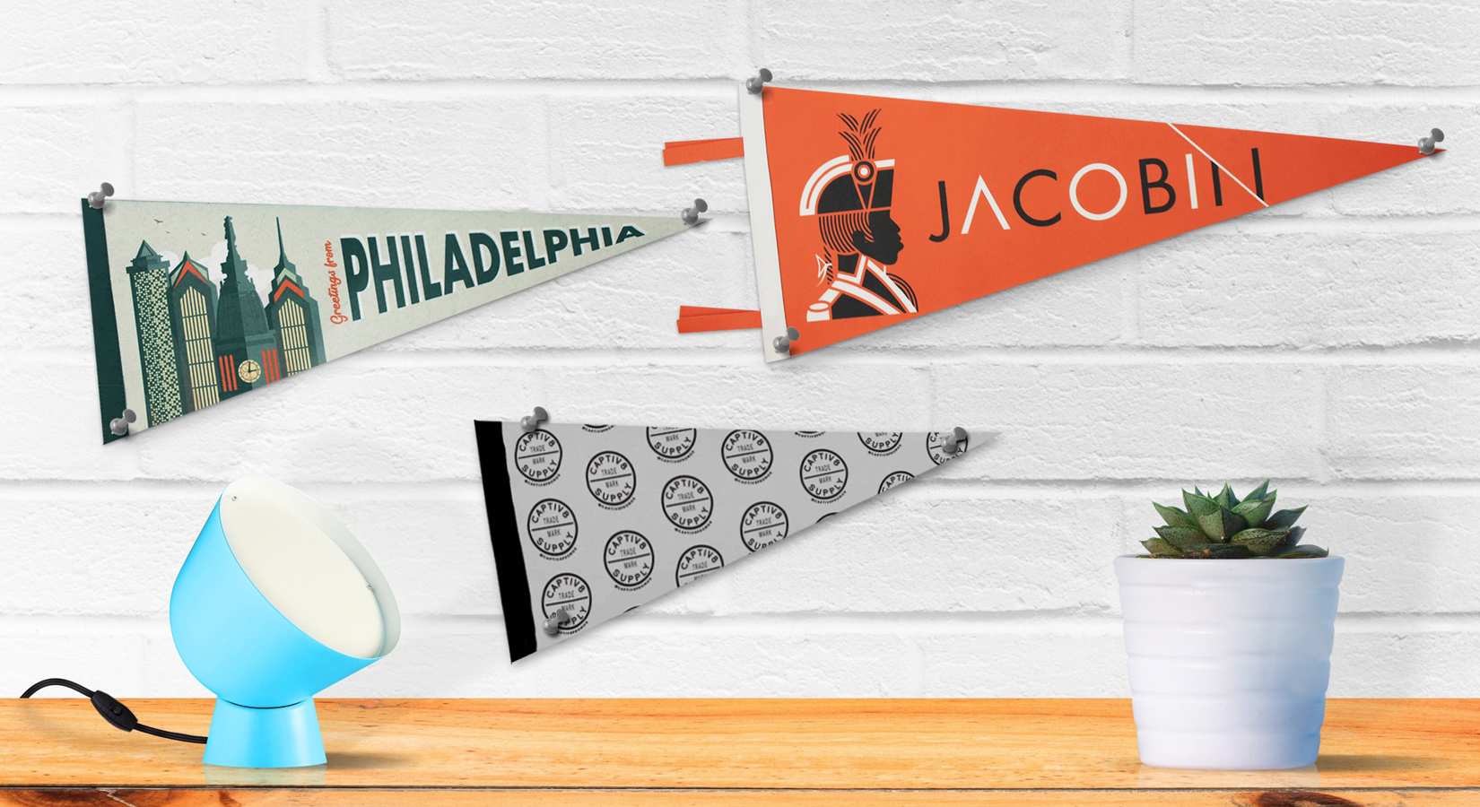 Full Color Pennants – Available in Various Sizes!