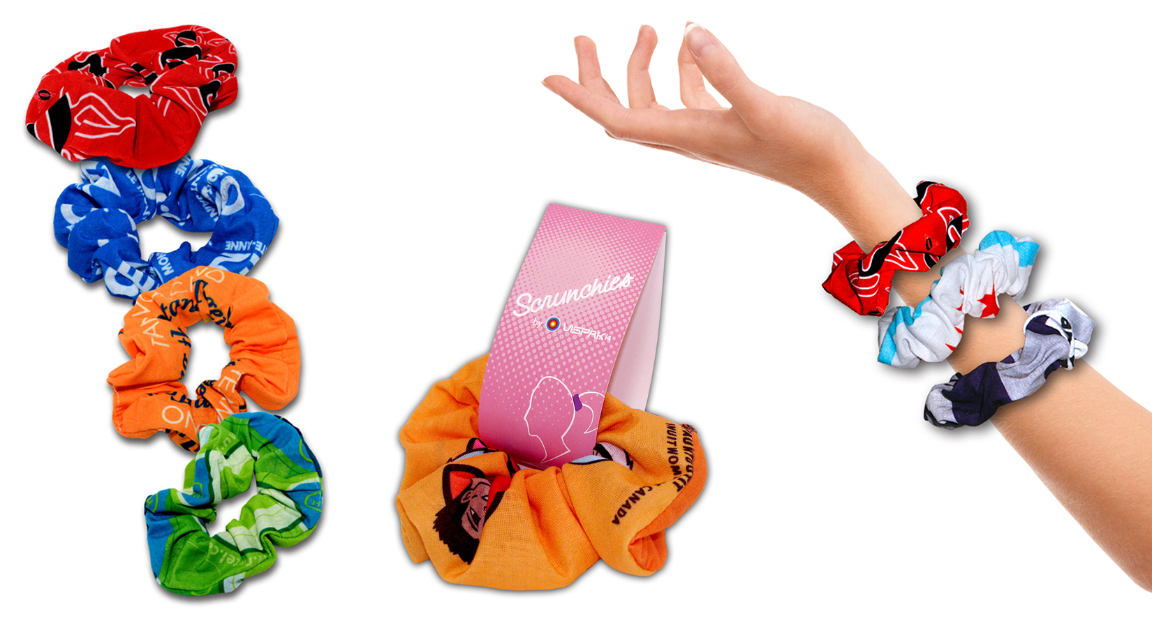 Full-Color Microfiber Scrunchies – Minimum Order Quantity Of Just 25 PIECES!