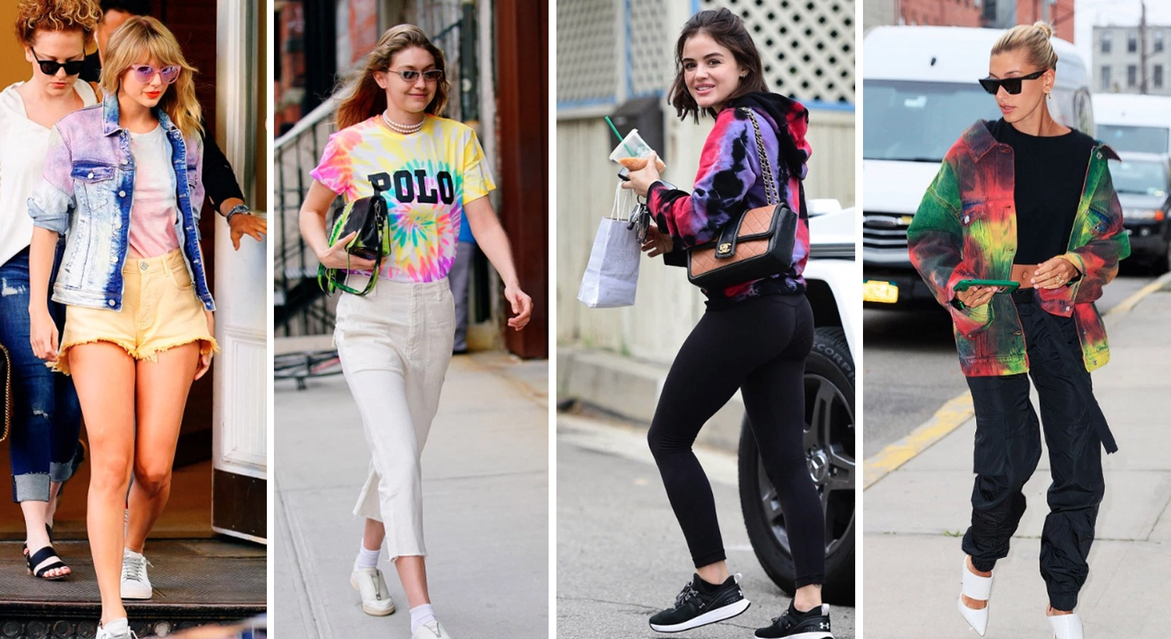 Celebrities Turn Up The Heat In Tie Dye