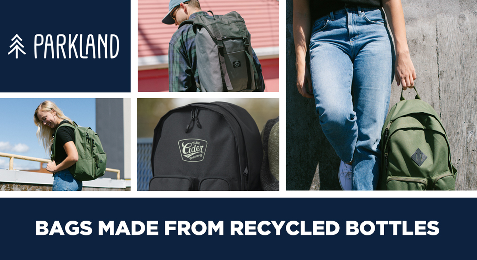 Parkland Design & Manufacturing: Bags Made From 100% Recycled Water Bottles