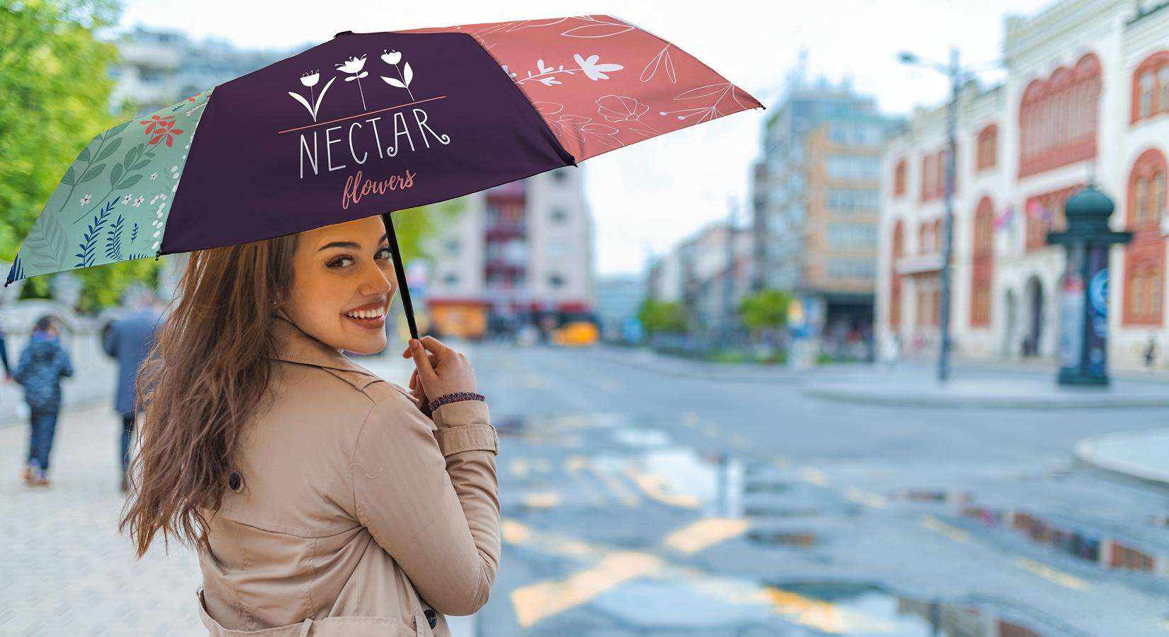 Full Color Pop Up Umbrellas
