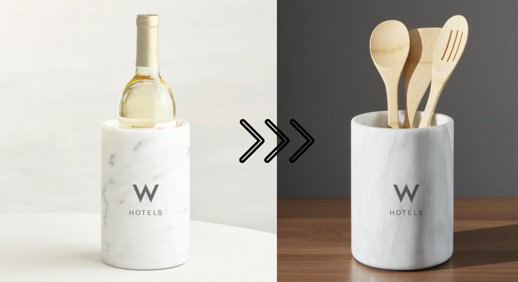 #25DaysOfGifting: Day 17 – White Marble Wine Chiller & Utensil Holder