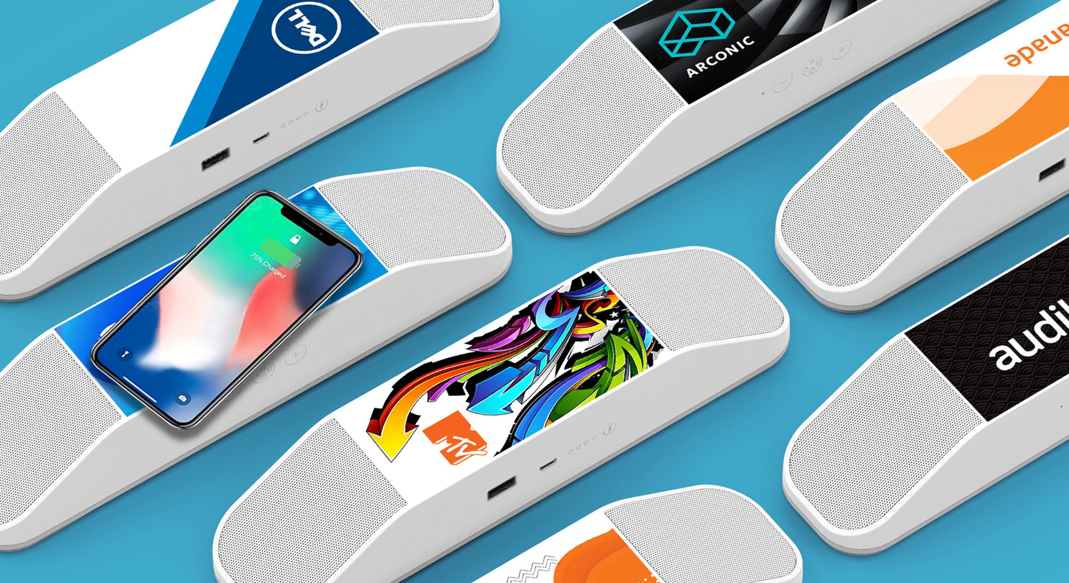 Full Color 2-in-1 Wireless Speaker & Charging Pad