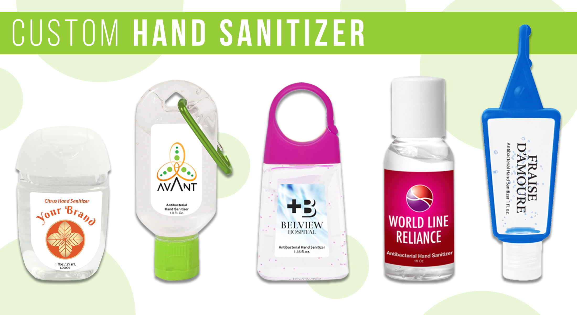 Be Safe, Stay Clean – Custom Hand Sanitizers