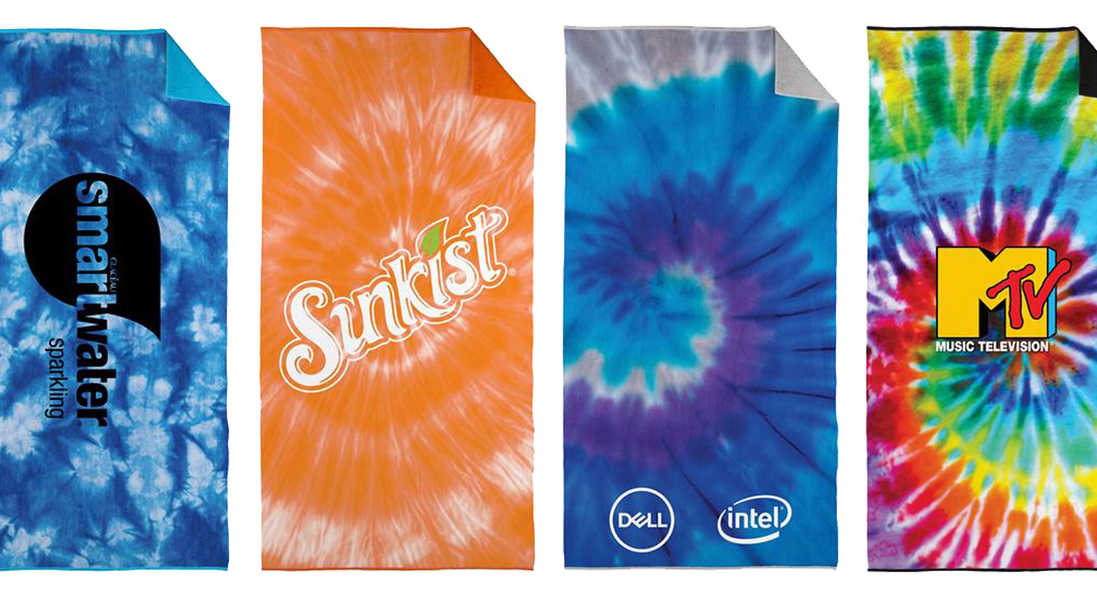 Tie Dye-Printed Beach Towels
