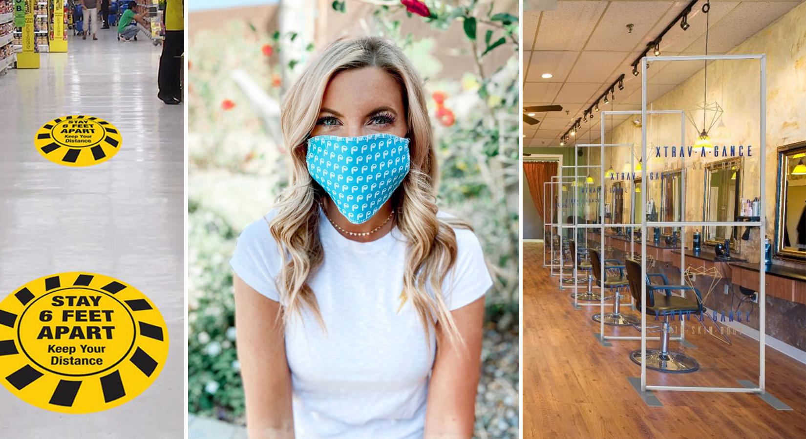 Fully Custom Face Masks, Sneeze Guards, Sanitizer Stands & More
