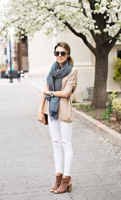 11-Le-Fashion-Blog-30-Fresh-Ways-To-Wear-White-Jeans-Scarf-Tan-Sweater-Open-Toe-Boots-Via-Hello-Fashion