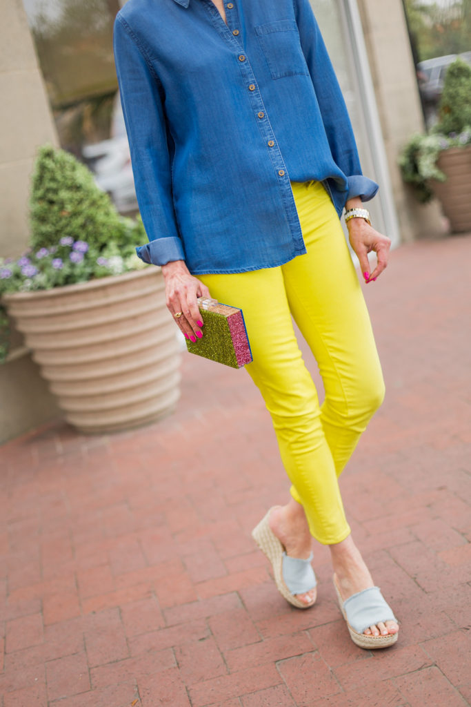 colored jeans, closet organizer, fashion finds, dallas blogger