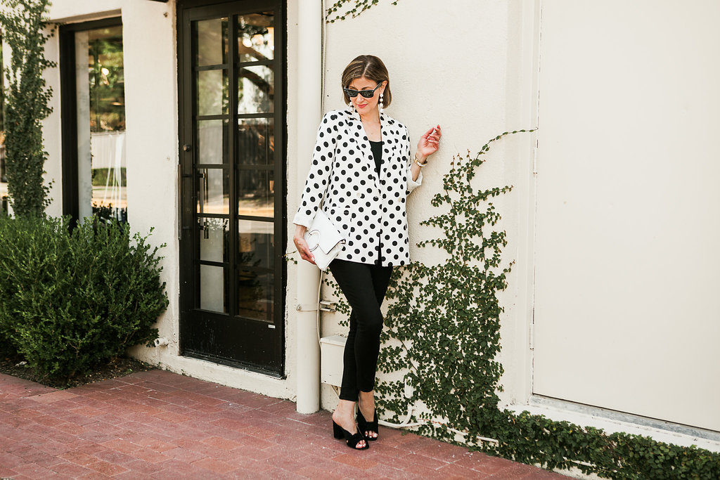 Dallas blogger over 40 and over 50 showing classic style for summer or fall or great transition pieces