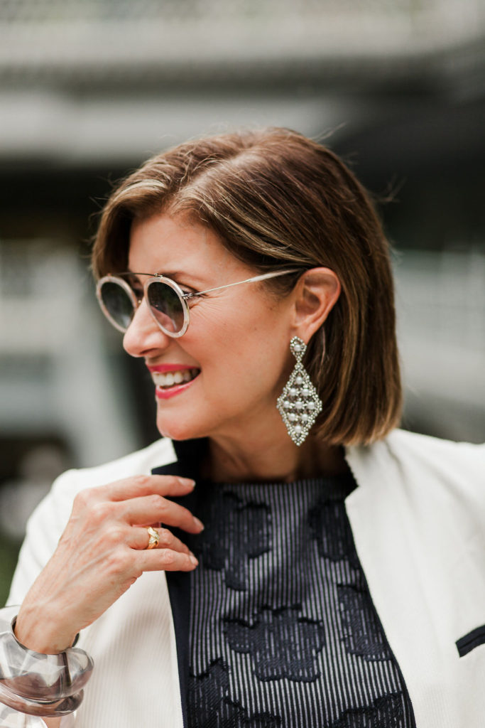 accessories like Lizzie Fortunato pearl and silver earrings are perfect for your cocktail dress
