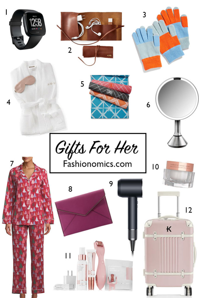 A collection of Holiday-gifts-for-her on Fashionomics blog