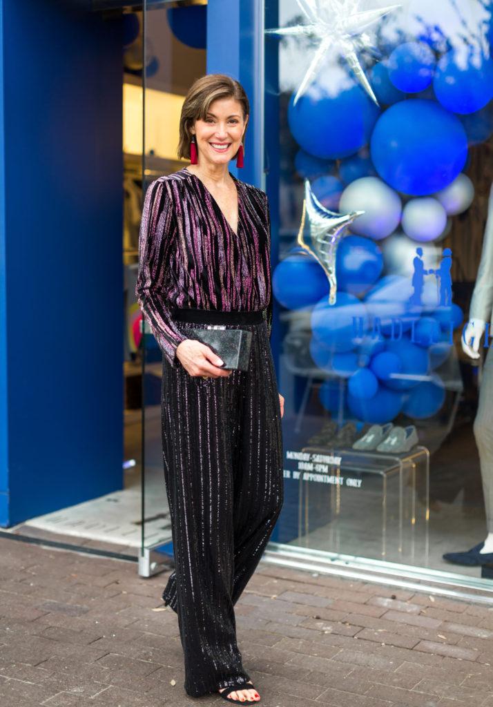Charlotte Max glitter box clutch with Zara sequins