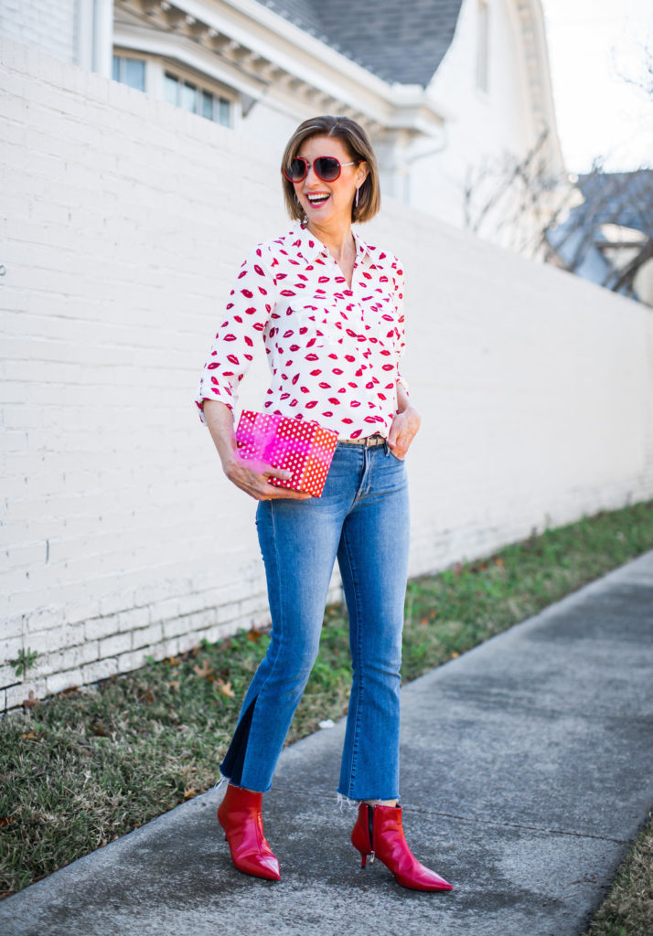 Over 50 Dallas blogger dressing for Valentine's Day