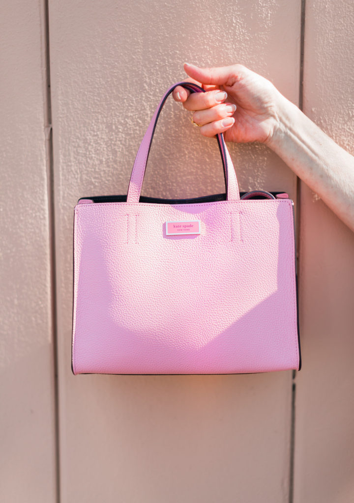 A pop of pink from Kate Spade for Dallas Blogger