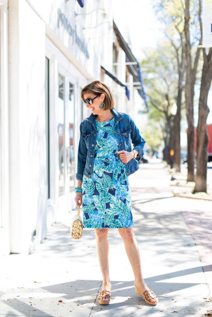 Fashionomics Dallas influencer Debby Allbright in dress