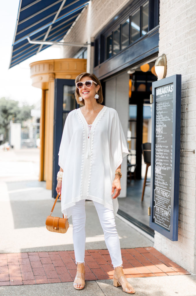 White jeans from Mother denim