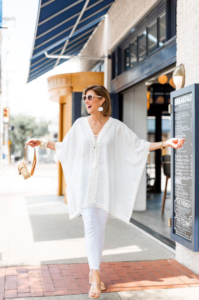 Shopping my closet - my fave white jeans by Mother