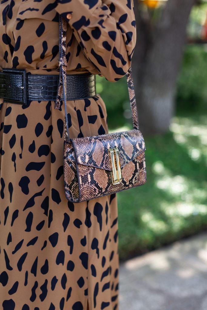 Demellier snakeskin crossbody bag
