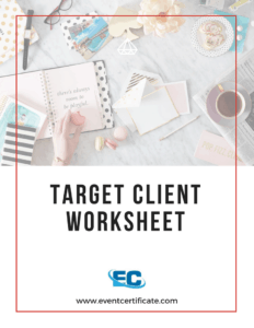 booking clients event planning target client worksheet